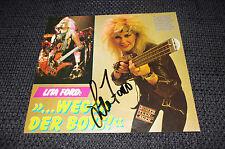 LITA FORD signed Autogramm auf 20x18 cm Zeitungsfoto InPerson RAR