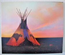 """R Tom Gilleon """"Blue Norther""""  #2/45 Canvas Native American Teepee Tipi Buffalo"""
