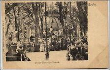 BADEN bei Wien Österreich ~1900/05 Fest Konzert Lomzak im Park alte Postkarte