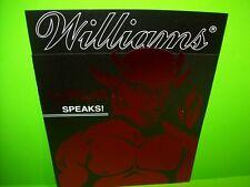 Gorgar Pinball Machine FLYER + Flexi Disc Record Original Brochure Williams NOS