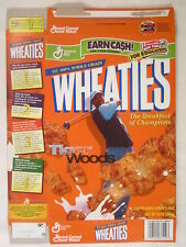 MT WHEATIES Cereal Box 2000 12oz TIGER WOODS [G7E9b]
