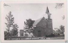 Vintage Lutheran Church Iola Wisconsin Rppc