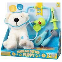 Make Me Better Puppy 7 Pièce Efp Set de Jeux Peluche Chien & Accessoires - Blanc