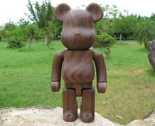 New Custom 400%(28cm) Black Walnut Wood Bearbrick Be@rbrick Action Figure