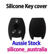 Mercedes Benz 3 Button Black Silicone car key cover protector - C CLK E S GL SLK