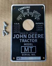 John Deere Mt Serial Number Tag Plate