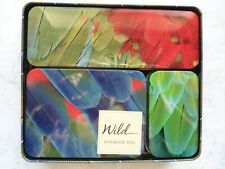 4 Storage tins 'Wild' by Life canvas - new, never used.