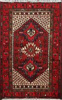 Geometric Traditional Hand-knotted Hamedan Area Rug Wool Oriental 3'x5' Carpet