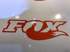 3x ORANGE Fox Shox Tail Vinyl Decal Sticker Forks /Mountain Bike / Frame Set
