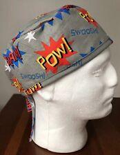 Superhero Comic Book Sounds - Men's Surgical Scrub Hat - Skull Cap