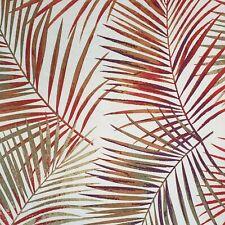"Caribbean Joe Tropical Palm Leaves Shower Bath Curtain 70""  Red Green Purple"