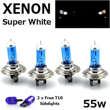 4x H7 55w 499 SUPER WHITE XENON UPGRADE HID Headlight Bulbs 12v FULL/DIPPED/SIDE