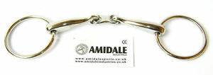 Amidale LOOSE RING HORSE BIT STAINLESS STEEL FRENCH FLAT LINK BNW