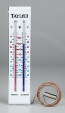 New! Taylor 9-3/4 in. Indoor and Outdoor Tube Thermometer Wall-Mounted 5327