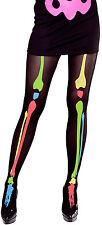 Neon Skelett Strumpfhose NEU - Zubehör Accessoire Karneval Fasching