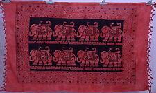 "Indian Elephant Mandala Cotton Tapestry Beach Yoga Mat Hippie Bohemian 72"""