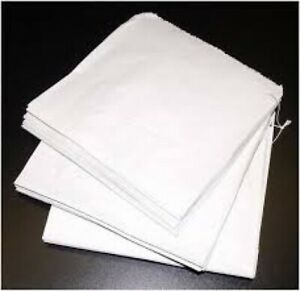 White Sulphite strung Bags - FOOD USE BAGS 100-1000x ALL SIZES