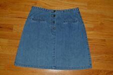 Kenar Women's 100% Cotton Jean Denim Mini Skirt 18