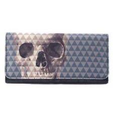 Loungefly Skull with Pyramid Studs Clutch Wallet Rockabilly Tri-Fold