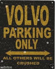 VOLVO PARKING METAL SIGN RUSTIC VINTAGE STYLE6x8in 20x15cm garage