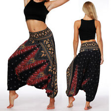 INDIAN BAGGY GYPSY HAREM PANTS YOGA MEN WOMEN COTTON FLORAL PRINT TROUSERS US