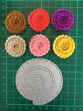 D031 Quilling Roll Up Flower Circle Cutting Die Suit for Sizzix Etc. Machine