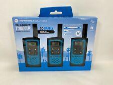 Motorola 3 Piece Talk About Waterproof Two Way Radio Walkie Talkies 22 Channels