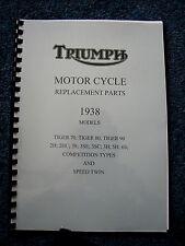 TRIUMPH TIGER 70 80 90 PARTS BOOK MANUAL 1938 2H 2HC 3H 5H 3S 3SE 6S PWTP06