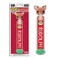 Funko POP! 3D Bookmark - RUDOLPH the Red Nose Reindeer - New Book Mark