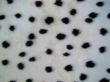 """Dalmatian dog Animal Print Patterned Fur Fabric 60""""wide SOLD BY THE METRE"""
