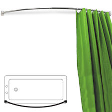 Arc - courbé Extensible 110cm - 196cm Chrome Tringle de rideau douche - Argent