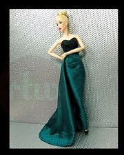 "Randall Craig ""Fancy"" Black & Green Gown for 12-inch Fashion Dolls (New, NRFB)"