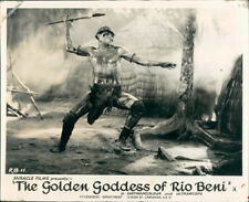 GOLDEN GODDESS OF RIO BENI MAN HURLS SPEAR BRAZIL 1965