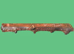 Redwood Burl Source carved mantel | live edge mantel | mantle shelf | m502