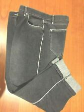 Marina Rinaldi Women's Cropped Jeans Faded Black High Rise NEW US12  $260