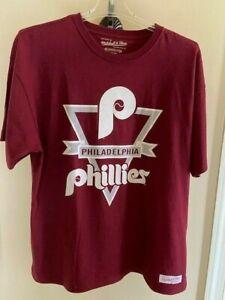 Retro Philadelphia Phillies Heavyweight Crewneck Tee Shirt - Size XXL - NEW