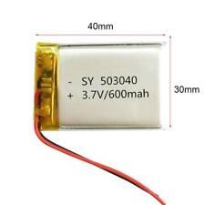 503040 LiPO Polymer li ion Battery 3.7V 600mAh For MID DVD GPS PDA Bluetooth Pen