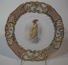 "Copeland Jeweled ""Old Songs"" Cabinet Plate"