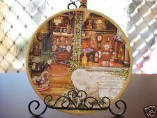 Ceramic Decoration Plate Antique N Flower Shop 20.5cm A