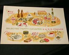 """CGT FRENCH LINE SS """"FRANCE"""" Canapes Recipe Card"""