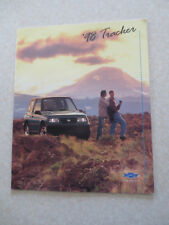 1998 Chevrolet Tracker advertising booklet - Chev Canada