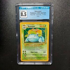 Pokemon Venusaur Holo 15/102 – Spanish Base Set Unlimited – CGC 8.5 NM/Mint+