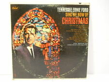 Vintage Tennessee Ernie Ford Sing We Now Of Christmas Vinyl Record