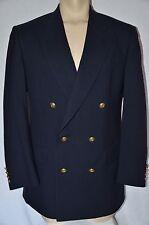 40L Men JOS BANK Sport Coat DOUBLE BREAST Hopsack Blazer GOLD BUTTON Navy Blue