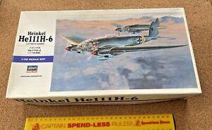 1:72 HASEGAWA HEINKEL He111H-6 GERMAN WWII MEDIUM BOMBER MODEL KIT 2004 AS NEW!