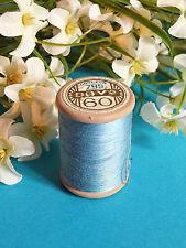 648b / Beautiful Coil Old Thread DMC Cotton Alsa No. 60 Blue Cérulé No. 799