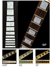 Block Fret Markers Inlay Stickers Decals Guitar aged white pearl