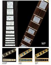 Blocco FRET Marcatori intarsio Adesivi Decalcomanie chitarra invecchiato bianco perla
