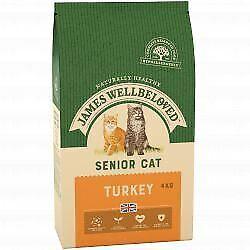 JAMES WELLBELOVED Cat Senior Turkey & Rice 4kg - 4kg - 431624