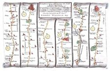 Antique map, The Road from London to Kings Lyn plate 043